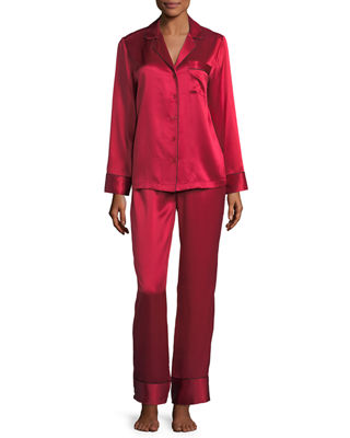 Silk Satin Two-Piece Pajama Set