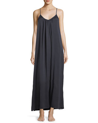 Washed Silk Long Easy Nightgown