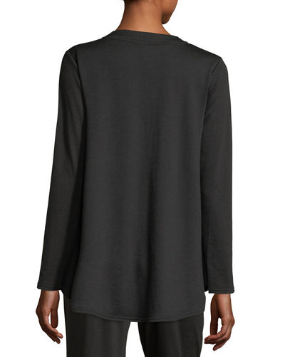 Zen French Terry V-Neck Top