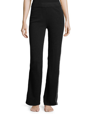 Neiman Marcus Cashmere Collection Cashmere Tipped Contrast-Trim