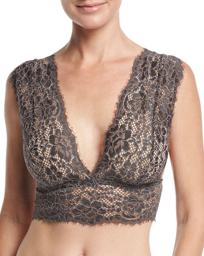 Cosabella Pret a Porter Wide-Strap Bralette and Matching