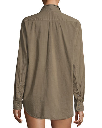 Beau Cotton Lounge Shirt