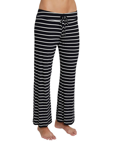 Striped Wide-Leg Lounge Pants