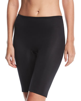 Firm Tummy-Control Double-Layered Thigh Slimmer 10135R in Very Black