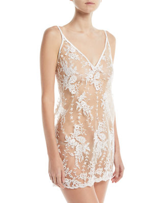 Cosabella Rosie Sheer-Lace Chemise