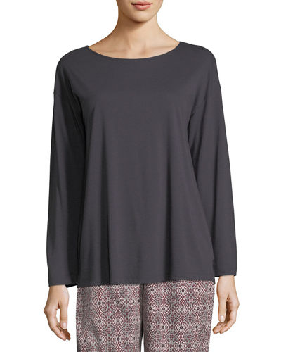 Hanro Sleep & Lounge Long-Sleeve Top and Matching