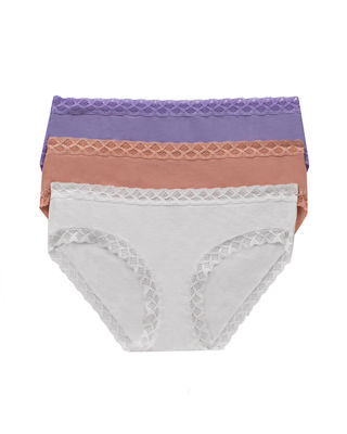 Natori Three-Pack Bliss Cotton Girl Briefs