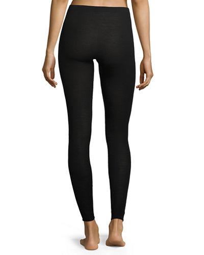 Pure Opulence Wool-Silk Thermal Leggings