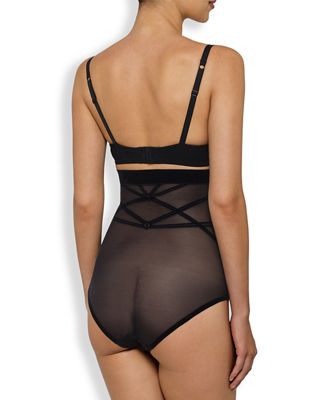 Sheer Decadence Shaping High-Waist Briefs