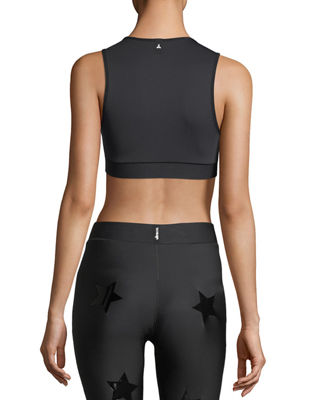 Image 3 of 3: Level Silk Knockout Star Crop Top