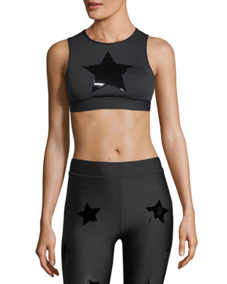 Level Silk Knockout Star Crop Top