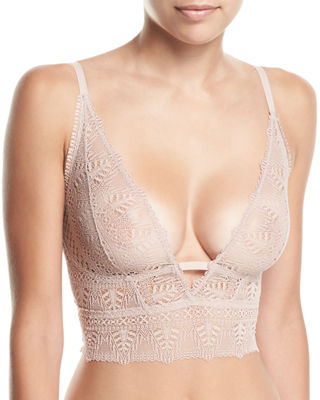 Else Ivy Longline Soft-Cup Lace Bra and Matching