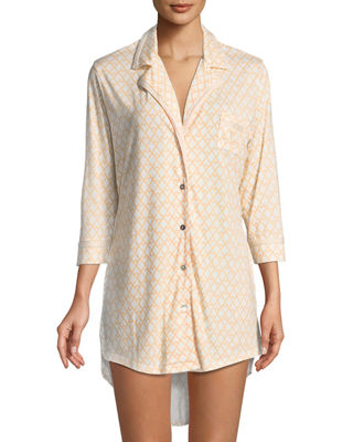 Cosabella Bella Printed Long-Sleeve Sleepshirt