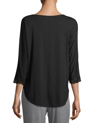Feathers 3/4-Sleeve Lounge Top