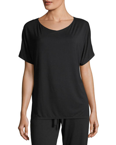 Feathers Short-Sleeve Lounge Top