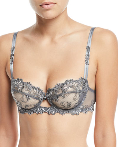 Dressing Floral Demi-Cup Bra
