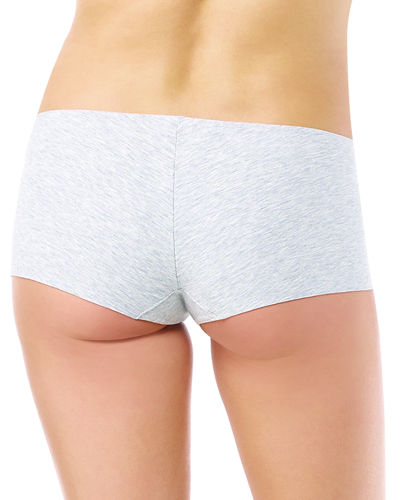 Heathered Cotton Boyshort Briefs