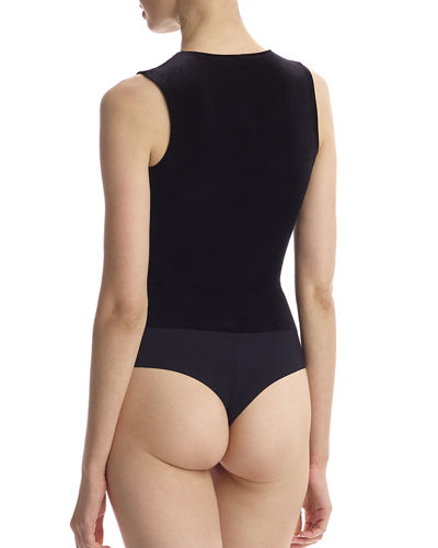 Commando Sleeveless Velvet Bodysuit