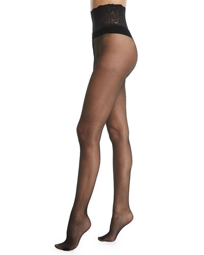 Commando Sexy Sheer Lace-Waist Tights