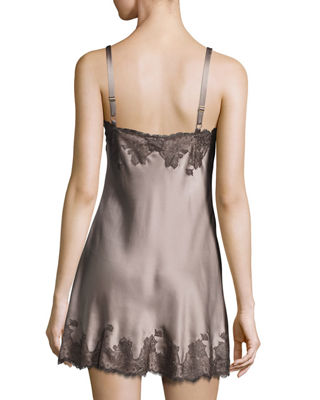 Image 3 of 3: Lolita Scalloped Silk Chemise