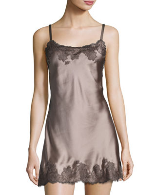 Image 1 of 3: Lolita Scalloped Silk Chemise