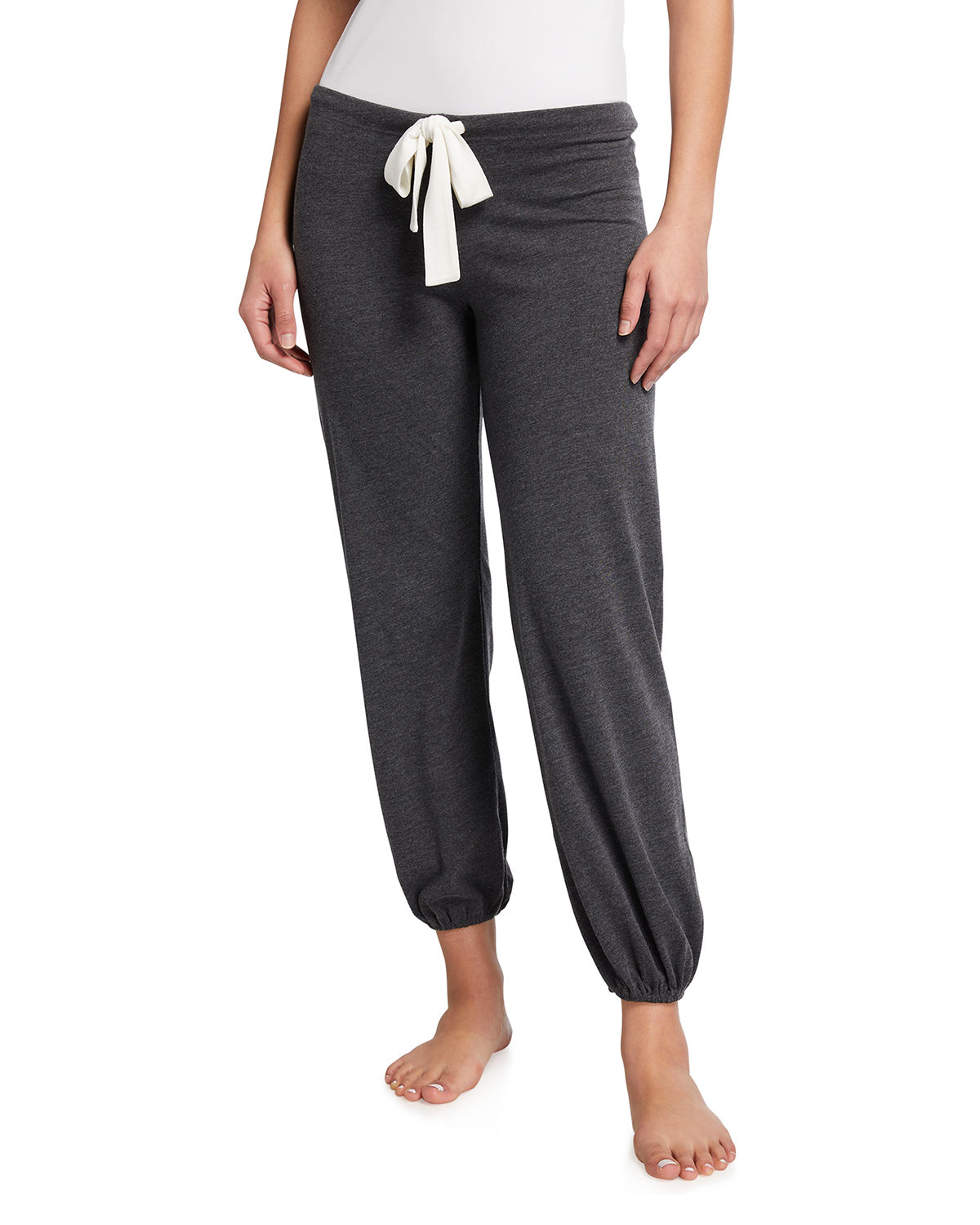 Eberjey Heather Slouchy Lounge Pants In Charcoal