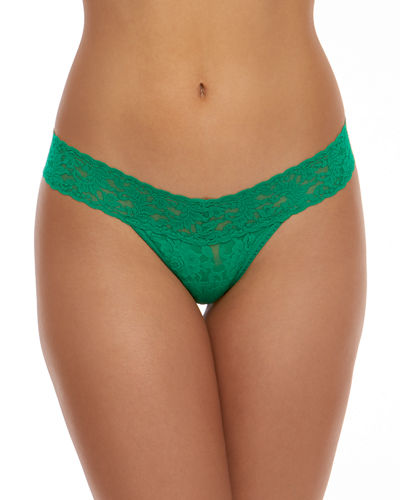 Rolled Low-Rise Lace Thong