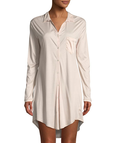 Grand Central Silk-Blend Sleepshirt
