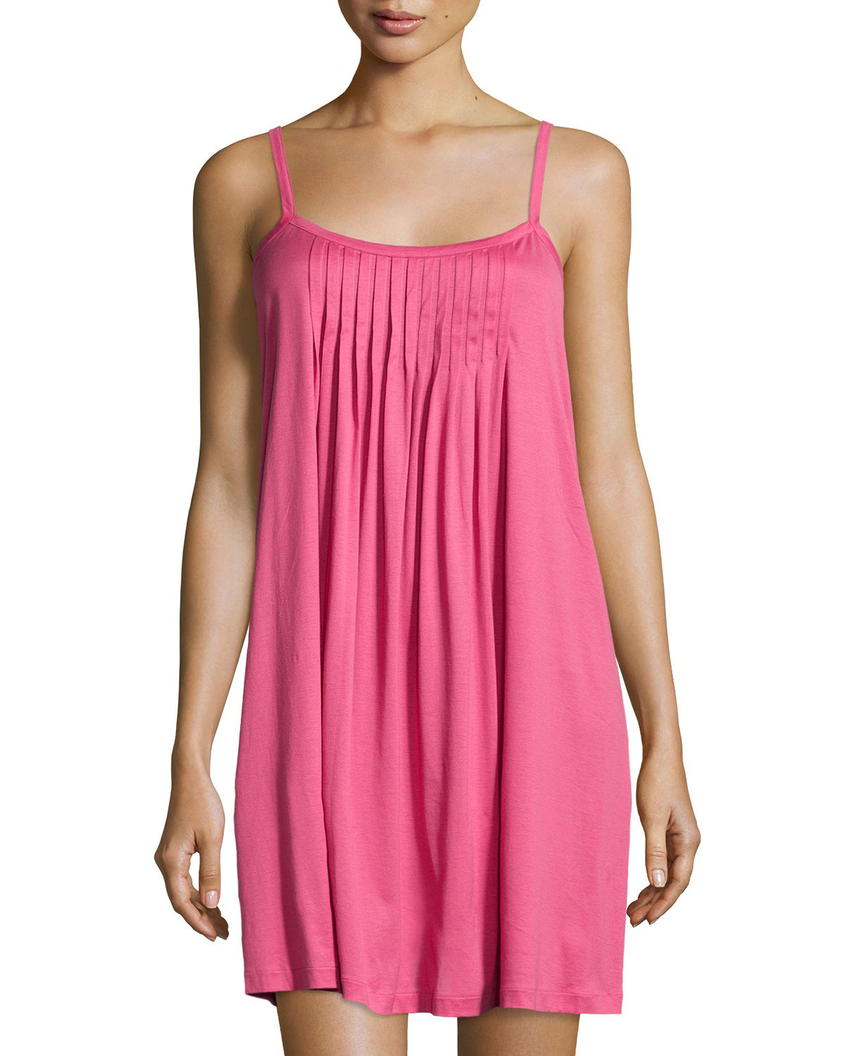 Juliet Pleated-Bib Babydoll Chemise
