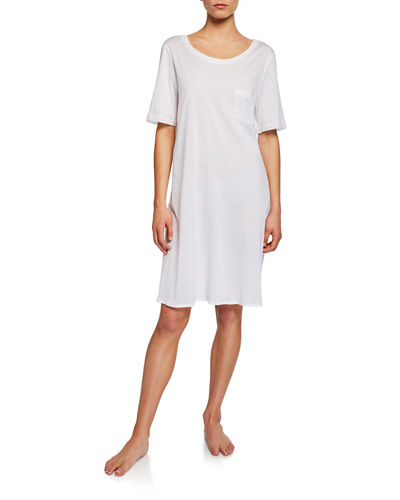 Hanro Cotton Deluxe Short-Sleeve Big Sleepshirt