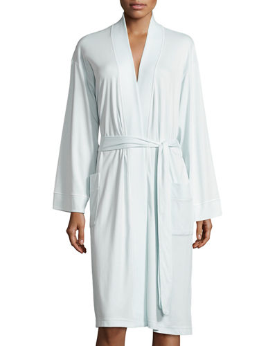 P Jamas Butterknit Short Wrap Robe