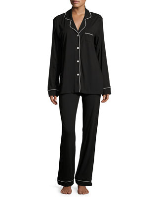 Cosabella Bella Contrast-Trim Long-Sleeve Pajama Set