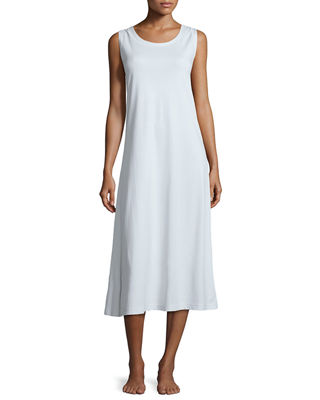 P Jamas Butterknit Scoop-Neck Tank Gown