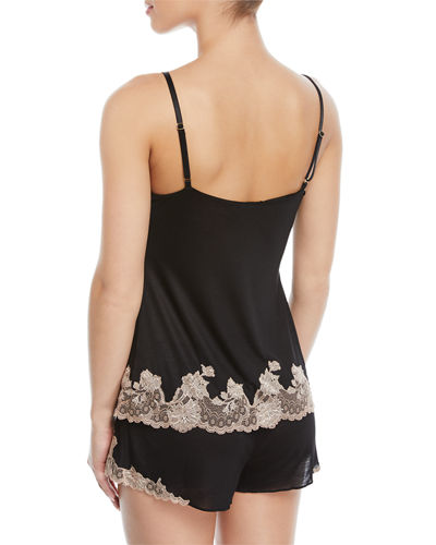 Charlize Lace-Trim Jersey Lounge Camisole