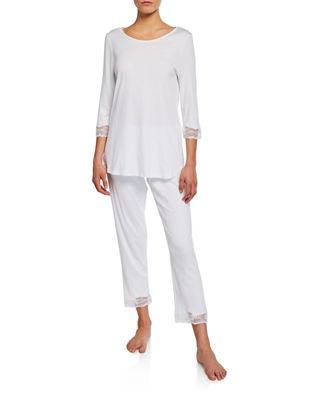 Image 1 of 2: Valencia Crop Pajama Set