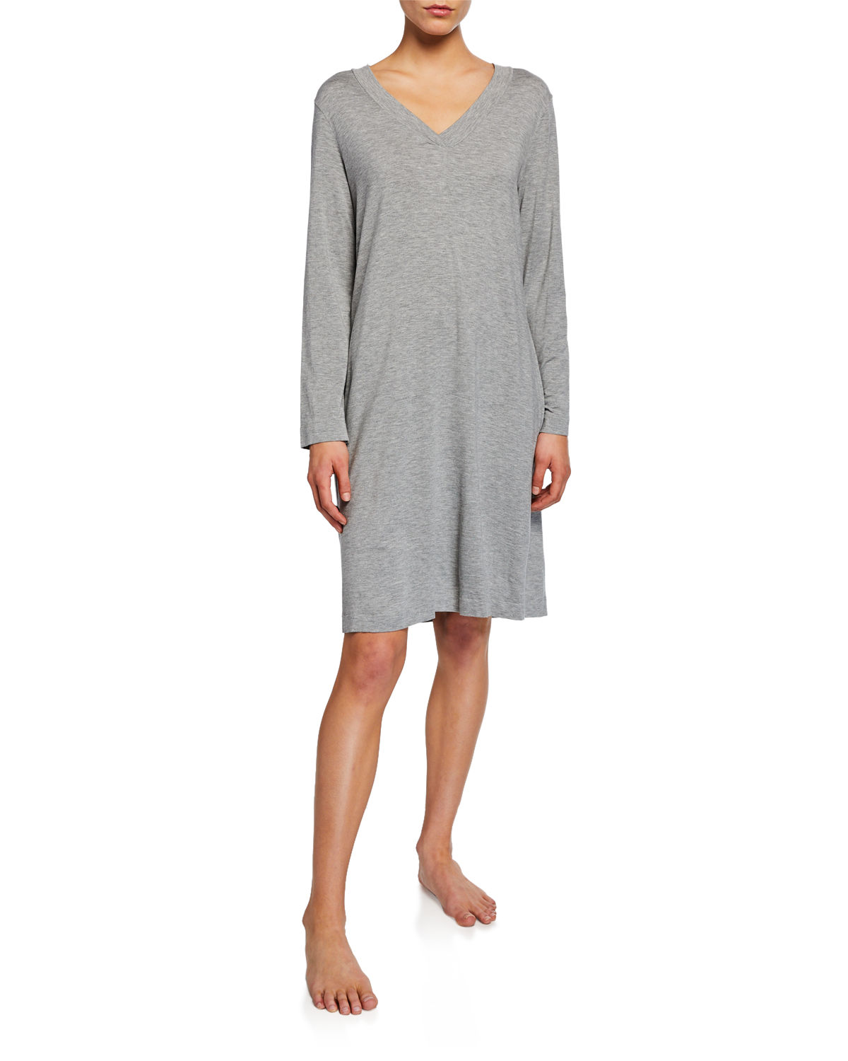 Champagne Long-Sleeve Nightgown