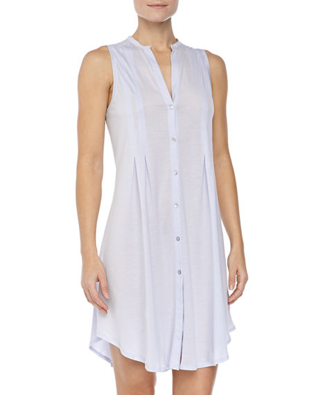 Hanro Button-Front Sleeveless Nightgown