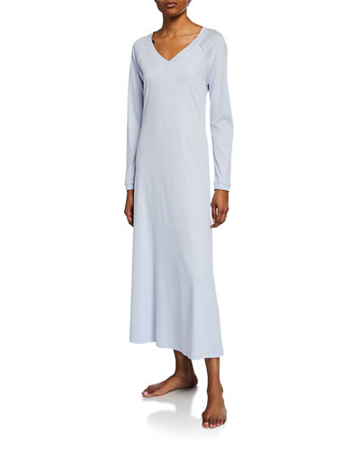 Pure Essence Long-Sleeve Long Nightgown