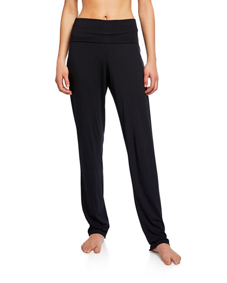 Image 1 of 3: Hanro Yoga Fold Over-Waist Pants