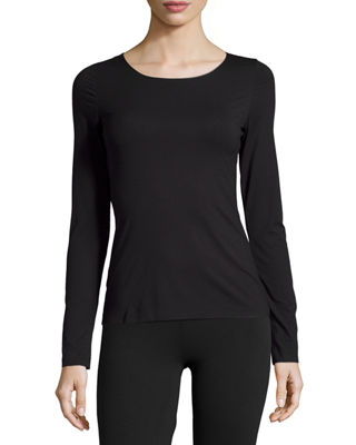 Image 1 of 2: Pure Long-Sleeve Pullover Top