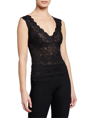 Josie Natori Rose Parfait Lace Tank Top