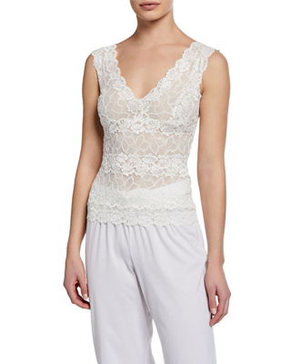 Rose Parfait Lace Tank Top