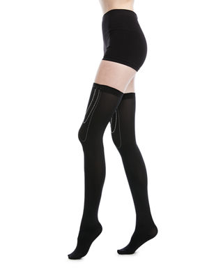 Jewel-Embellished Stay-Up Thigh-Highs