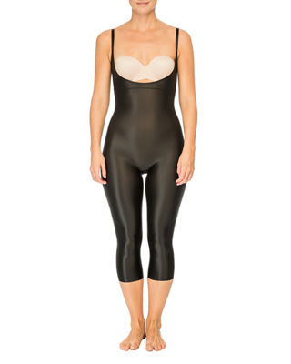Image 1 of 3: Suit Your Fancy Open-Bust Catsuit