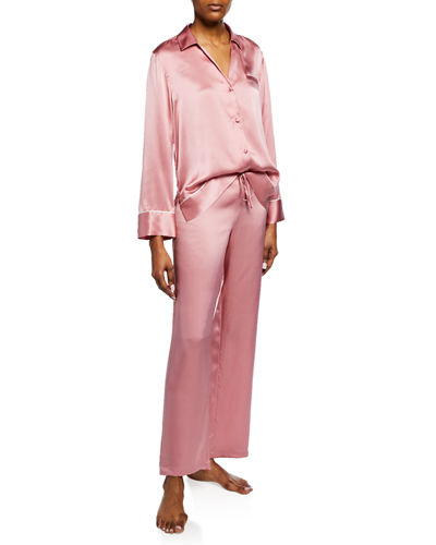 Silk Spread-Color Pajama Set