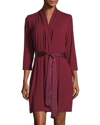 FLEUR'T Take Me Away Inset-Back Robe in Cabernet