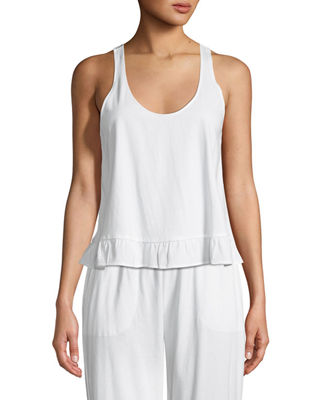 Image 1 of 2: Ruffled Lounge Tank