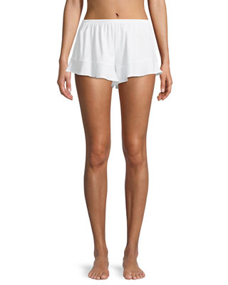 Skin Ruffled Cotton Lounge Shorts