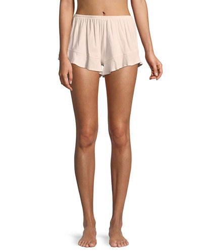 Ruffled Cotton Lounge Shorts