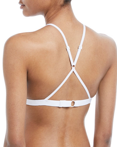 Cotton Tulle Adjustable Triangle Bra